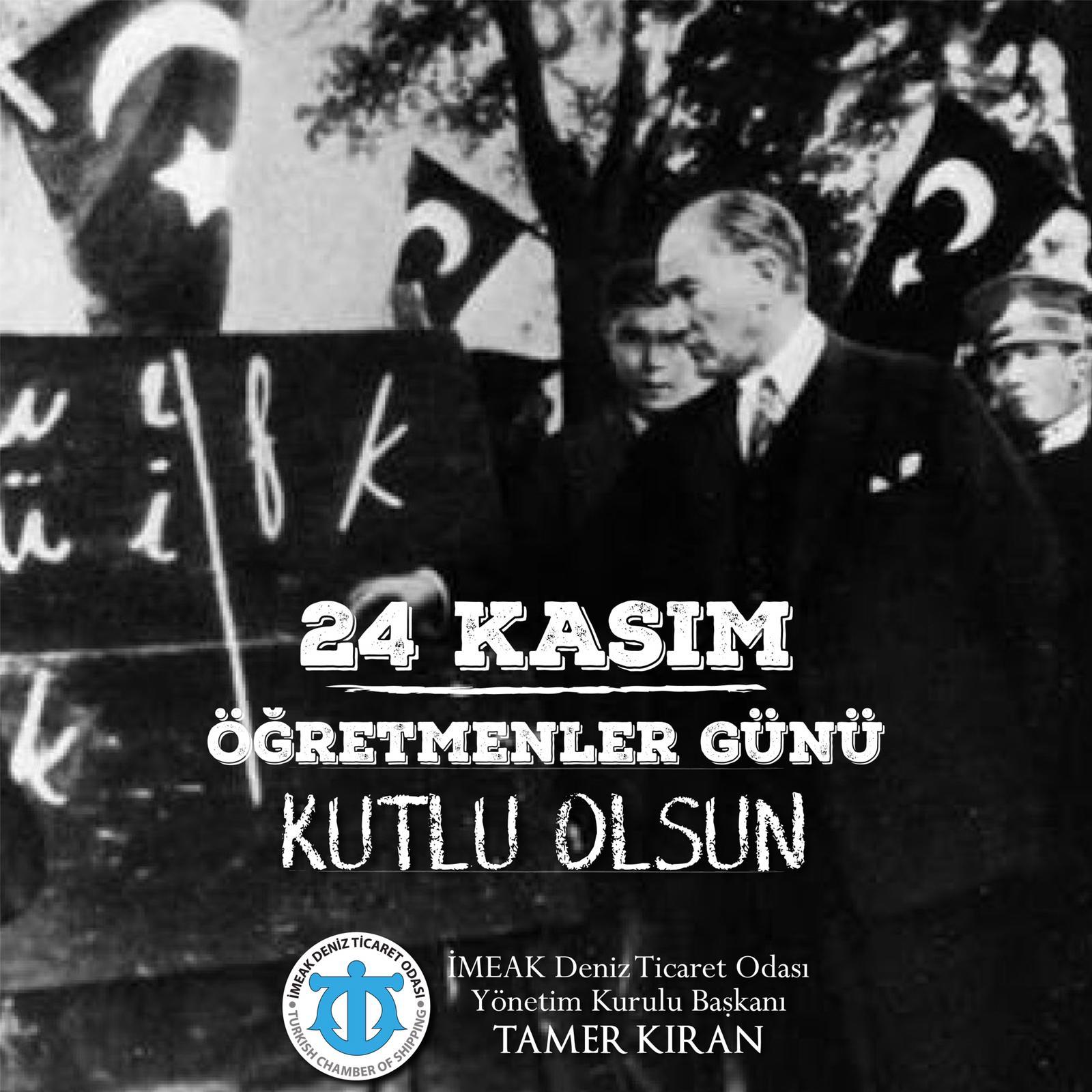 Başkanımız Tamer Kıran'ın 24 Kasım Öğretmenler Günü Mesajı